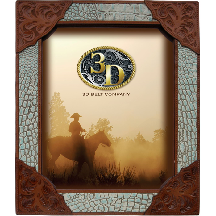 """3D 8"""" x 10"""" Leather Picture Frame"""