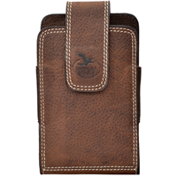 Georgia Dark Brown Large Smartphone Holder