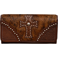 3D Brown Clutch Wallet