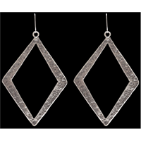 LoulaBelle Silver Diamond Earrings