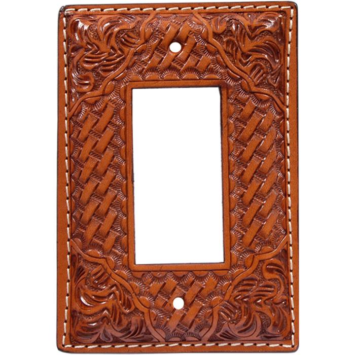 3D Natural Leather Rocker Plate