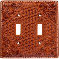 3D Natural Leather Switch Plate