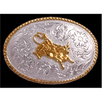 Silver Strike Bullrider Kids' Buckle