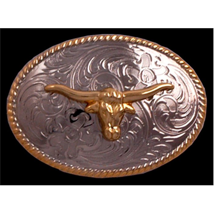Silver Strike Longhorn Kids' Buckle