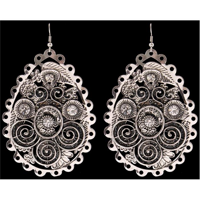 Silver Strike Crystal Earrings