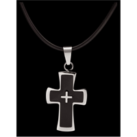 Silver Strike Stainless Steel Men's Necklace