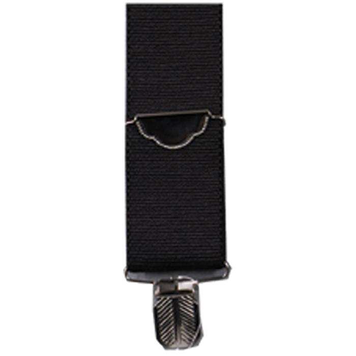 3D Black Elastic Suspenders