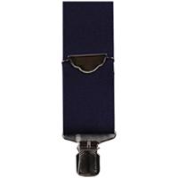 3D Navy Elastic Suspenders