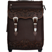 3D Chocolate Brown Carry-on Luggage