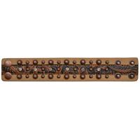 3D Brown Floral Embossed Leather Bracelet