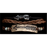 Silver Strike 3 strand Arrow Bracelet