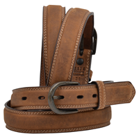 "3D 1 1/4"" Cognac Men's Western Basic Belt"
