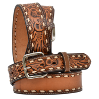 "3D 1 1/2"" Natural Kids's Western Fashion Belt"