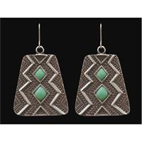 LoulaBelle Aztec Turquoise Earrings