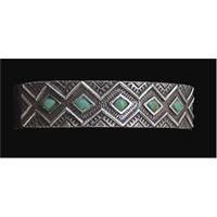 LoulaBelle Silver Turquoise Colored Cuff Bracelet