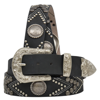 "Angel Ranch 1 1/2"" Black Ladies' Fashion Belt"