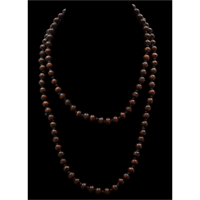 Silver Strike Brown Beaded Necklace