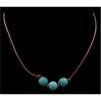 Silver Strike Turquoise Bead Choker Necklace