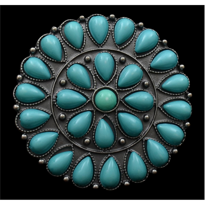Silver Strike Turquoise Burst Ring