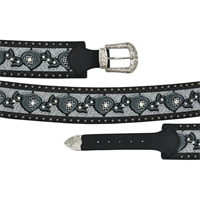 "Angel Ranch 3 1/4"" Black Ladies' Fashion Belt"