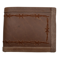 3D Brown Western BiFold Wallet