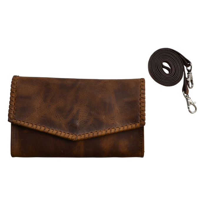 Angel Ranch Brown Large Smartphone Holder Crossbody