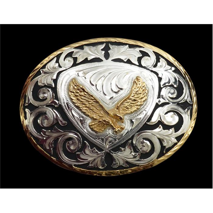 Silver Strike Eagle Men's Buckle