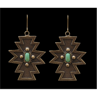 LoulaBelle Antique Gold Aztec Earrings