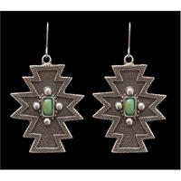 LoulaBelle Antique Silver Aztec Earrings