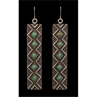 LoulaBelle Long Turquoise Earrings