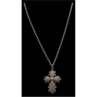 LoulaBelle Silver Cross Necklace