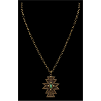 LoulaBelle Vintage Gold Cross Necklace