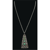 LoulaBelle Silver Aztec Necklace