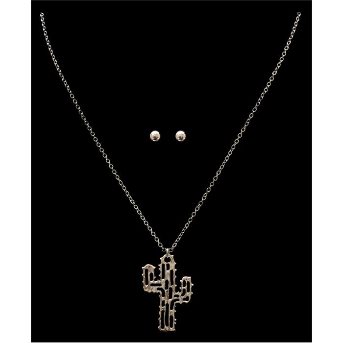 Silver Strike Silver Filigree Cactus Necklace