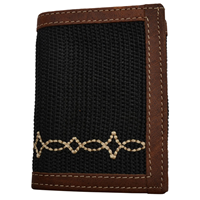 Georgia Black Work Trifold Wallet