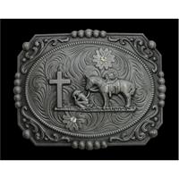 Silver Strike Praying Cowboy Men's Buckle