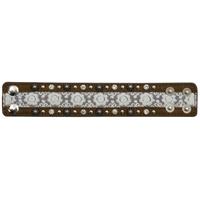 3D Brown Lace Leather Bracelet