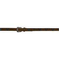 "3D 1 1/4"" Dark Brown Boys' Western Fashion Light-up Belt"