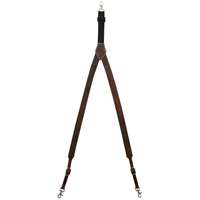 3D Brown Leather Suspenders