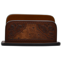 3D Brown Business Card Holder