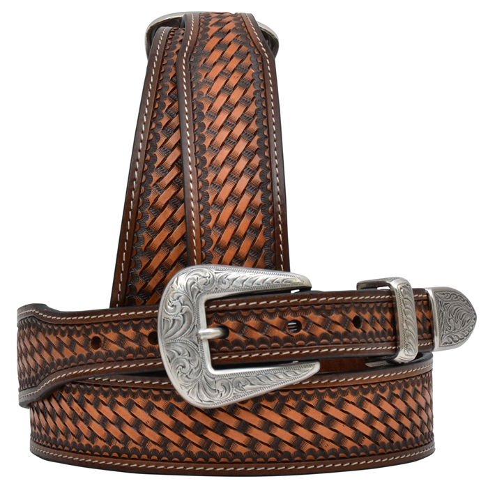 "3D 1 1/2"" Medium Brown Men's Western Fashion Belt"