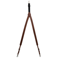 3D Tan Leather Suspenders