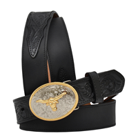 "3D 1 1/4"" Black Boys' Western Basic Belt"