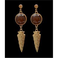 Silver Strike Gold Arrowhead Earrings