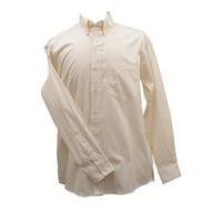 Ruddock Bros. Ecru (Off-White) Pin Oak Dress Shirt