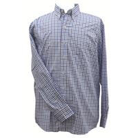 Ruddock Bros. Blue Plaid Pin Oak Dress Shirt