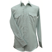 Ruddock Bros. Jade & White Plaid Bluff Snap Shirt