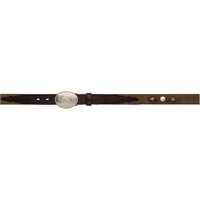 "3D 1 1/4"" Dark Brown Boys' Western Fashion Belt"