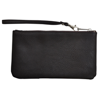 Angel Ranch Cowprint Leather Wristlet