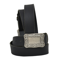 "Angel Ranch 1 1/2"" Black Ladies' Western Basic Belt"